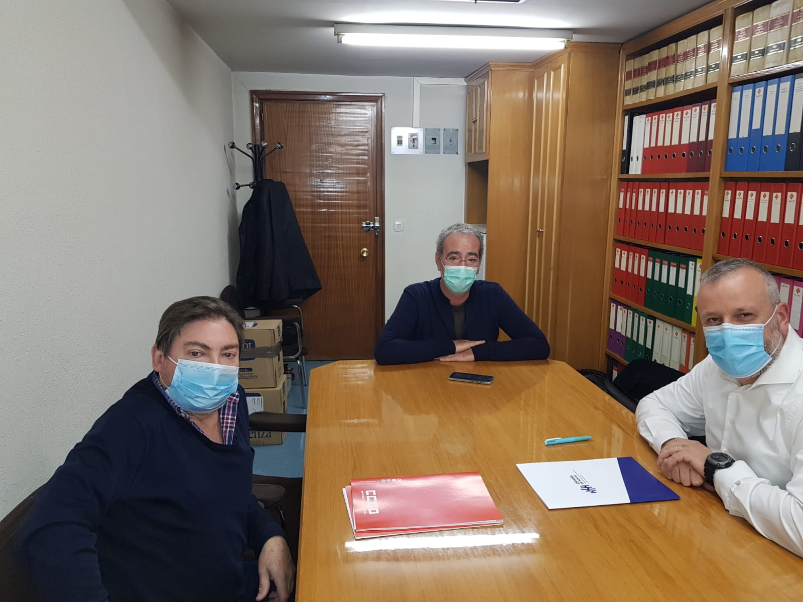 Reunión en Madrid con UGT y CCOO